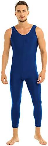 (アゴキー) Agoky メンズ アダルト フィット ノースリーブ レオタード インナーシャツ タンクトップ ベスト ユニタード ボディスーツ スポーツ ジム ウェア