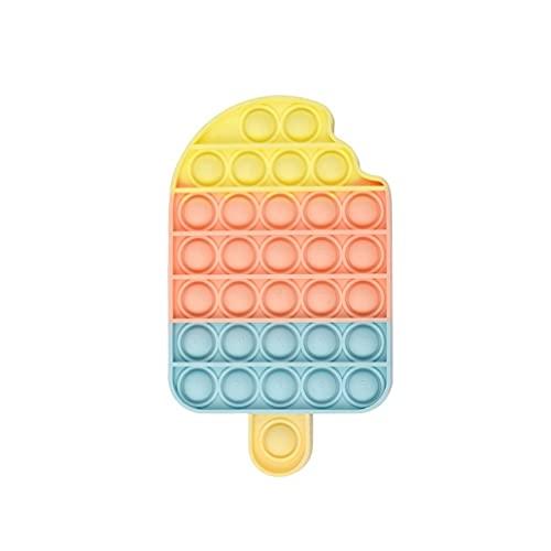 Ice Cream Bubbles Pop It- Push and Pop Bubble Fidget Sensory Toy- Fidget Poppers for Kids- Simple Dimple Silicone Fidgets- Popit for Boys Girl and Baby - Single Cute Fidget Popper - Tiktok Poppits