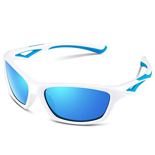 Sport Sunglasses for Kids Boys Girls Child Teen Toddler Wayfarer Youth Junior Polarized Glasses Baseball Cycling Fishing ()