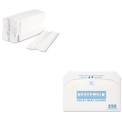 KITBWK6220BWKK5000 - Value Kit - Boardwalk Premium Half-Fold Toilet Seat Covers (BWKK5000) and Boardwalk 6220 Centerpull Paper Towels (BWK6220) by Boardwalk (Image #1)