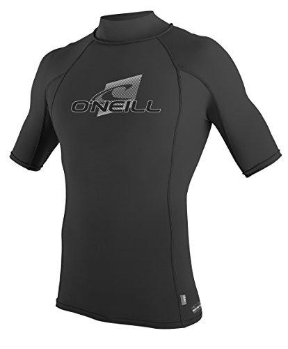 O'Neill Wetsuits Men's Skins Short Sleeve Turtleneck, Black, Large