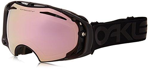 Oakley OO7037-23 Airbrake Eyewear, Factory Pilot Blackout, VR50 Pink Iridium - Black Oakley And Pink Sunglasses