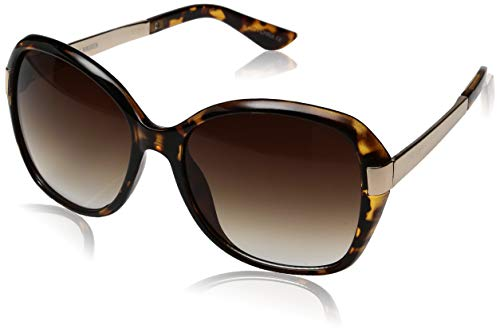 Steve Madden Women's Sm873193 Oval Sunglasses Tortoise 58 ()