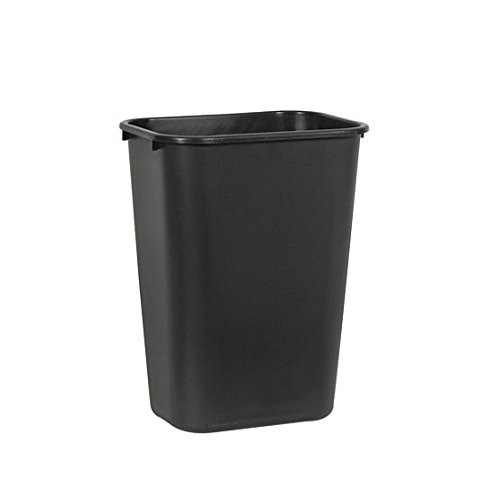 Rubbermaid 10.25 gal. Soft Molded Plastic Trash Can - Black