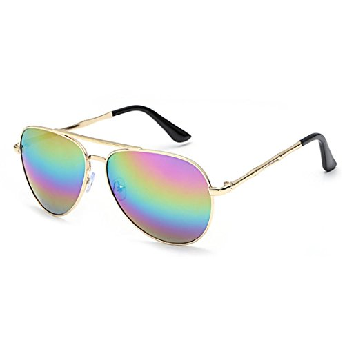 Transer Twin-Beams Geometry Design Women Metal Frame Mirror Sunglasses Cat Eye Glasses - D Sunglasses Frame