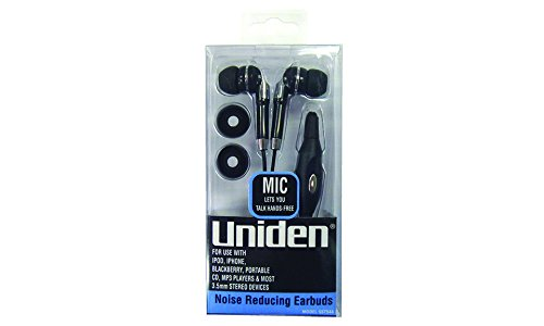 Uniden Noise Reducing Earbuds with Replacement Cushions