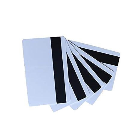YARONG (Paquete de 10) tarjetas de plástico PVC blanco tarjeta magnética 30 mil Impresora de tarjetas de banda magnética para imprimir CR80