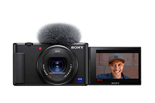 Sony ZV-1 Camera for Content Creators, vlogging and YouTube with flip screen and microphone (Renewed)