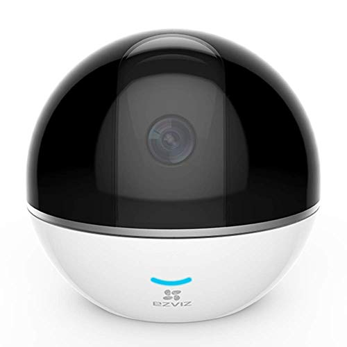EZVIZ Pan/Tilt Camera 1080p 360° Rotating Dome Security Surveillance Night Vision Auto Motion Tracking Pet Baby Monitor Two Way Audio Works with  Alexa WiFi 2.4G Only WH CTQ6Tc