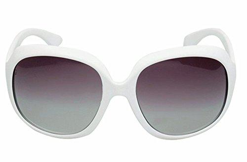 Fashion Polarized Sunglasses Oversized White Women's by LUFF LUFF UV400 Sunglasses MOTINE Xpw0q8v