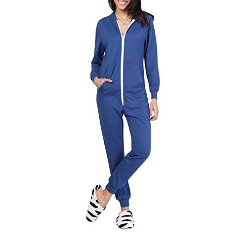 Felpa Tracksuit Jumpsuit Comodo E Donna Tuta Onesie Pigiami Playsuit Reale Camicie Per Da Monopezzo Blu Pigiama Manica Lunga Taambab Notte wYv75zn6xq