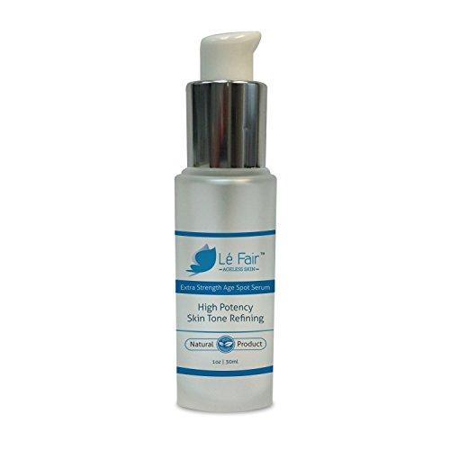 Age Spot Remover Serum– Le Fair Age Spots & Dark Spot Corrector for Face Neck Hands - Skin Lightening & Whitening – Professional Removal & Eraser Cream – Great Anti Aging Skin Care Moisturizer