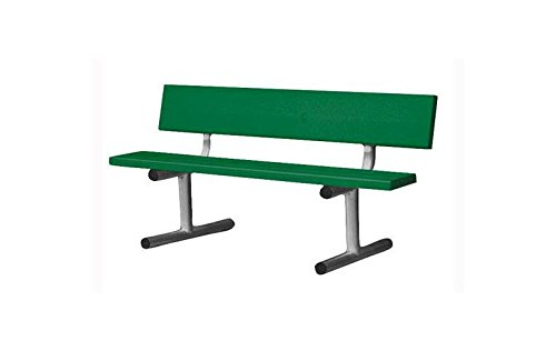 Buy athletic connection 5 ft. courtside bench in green