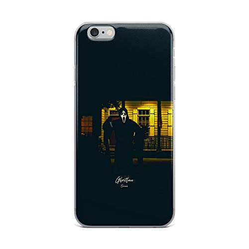 iPhone 6 Plus/6s Plus Case Anti-Scratch Motion Picture Transparent Cases Cover Ghostface Scream Movies Video Film Crystal Clear