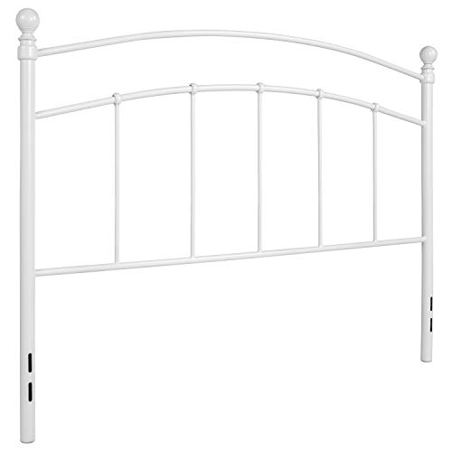 Flash Furniture Woodstock Decorative White Metal Queen Size Headboard