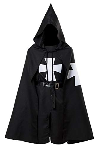 Adult Halloween Medieval Costume Robe Knights Templar
