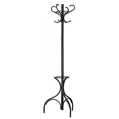 GrayBunny Metal Coat Rack, Hat Stand With Umbrella Holder, Steel Hall Tree