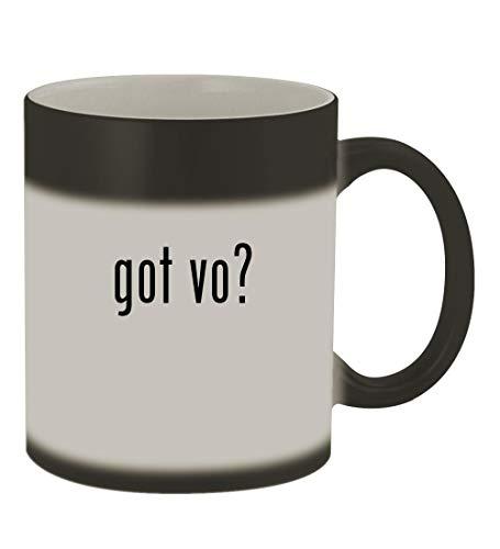 got vo? - 11oz Color Changing Sturdy Ceramic Coffee Cup Mug, Matte Black