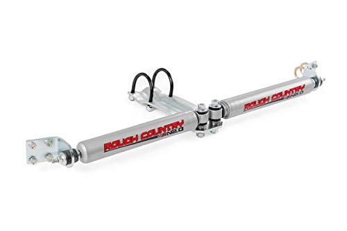 Stabilizer Dual Country Steering (Rough Country - 87321.20 - Dual Steering Stabilizer w/Premium N2.0 Shocks for Dodge: 94-99 Ram 1500 4WD)