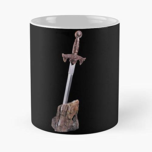 Ancient Arthurian Black Blade Gift Coffee/tea Ceramic Mug 11 Oz