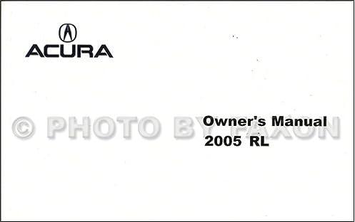 amazon com 2005 acura rl owners operators owner manual set oem rh amazon com 2005 acura rl owner's manual pdf 2005 acura rl owner's manual pdf