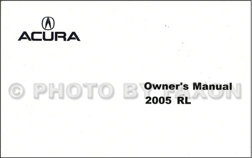 2005 acura rl owners manual - 2