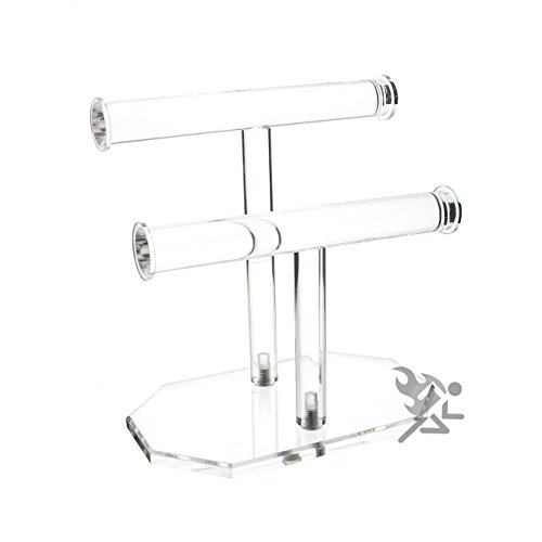 Clear Bracelet Display Stand, 2 Tier Jewelry Holder
