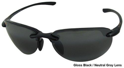 Maui Jim Hapuna Noir Brillant Gris Neutre Polar+ Noir