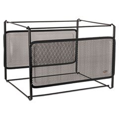 ELDON OFFICE PRODUCTS 22191 Letter Size Mesh File Frame Holder, Wire, 12 3/8 x 11 3/8 x 9 5/8, Black