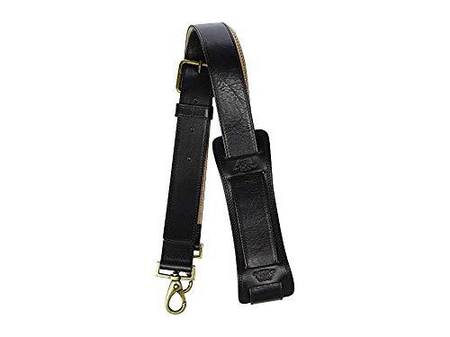 Bosca Men's Dolce All Leather Shoulder Strap Black One Size Bosca Leather Shoulder Bag