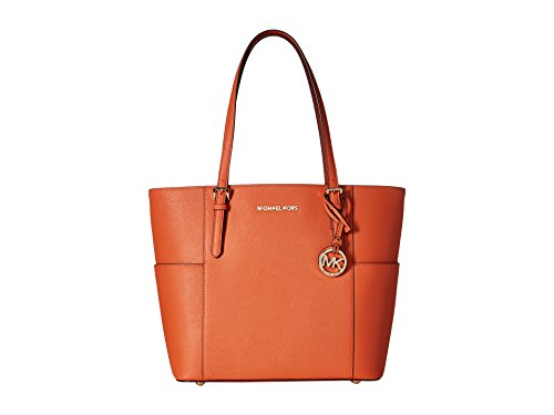 988cfa77fe6b MICHAEL Michael Kors Jet Set Travel Large Tote (Tangerine) by MICHAEL  Michael Kors
