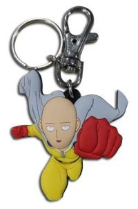 Great Eastern Animation One Punch Man Saitama Flying PVC Keychain