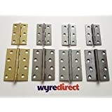 Wyre Direct 2X Butt Hinges Door Hinges Brass-Chrome-Zinc-S/C 41 Pair by Wyre Direct