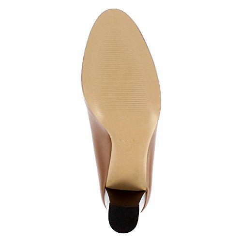 Evita Shoes Bianca - Zapatos de vestir de Piel para mujer coñac