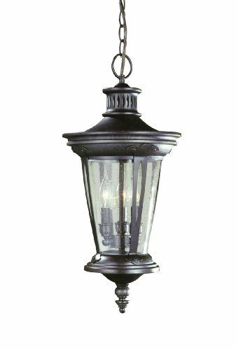 World Imports 74263-89 Northhampton Outdoor Collection 3-Light Hanging Lantern, Bronze ()