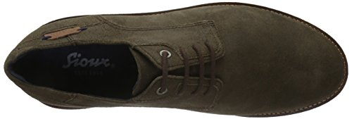 Sioux Likos, Zapatos de Cordones Derby para Hombre Marrón - marrón oscuro