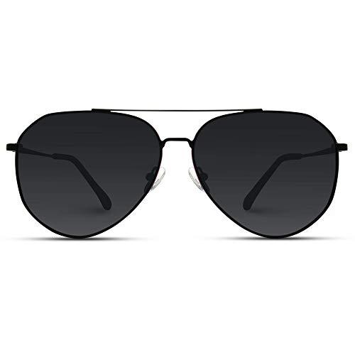 WearMe Pro - Polarized Premium Designer Inspired Medium Metal Frame Aviator Sunglasses - Modern Design ()