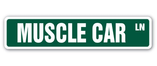 MightySkins Muscle Car Street Sign, 4 x 18 Inch