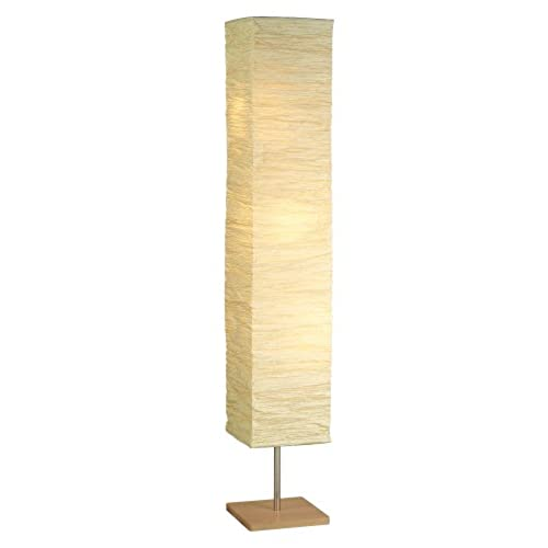 Paper shade floor lamp amazon adesso 8022 12 dune 58 floorchiere natural smart outlet compatible greentooth Gallery
