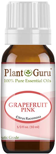 Pink Grapefruit Essential Oil 10 ml 100% Pure Undiluted Therapeutic Grade Cold Pressed from Fresh Grapefruit Peel, Great for Aromatherapy Diffuser, Relaxation and Calming, Natural Cleaner.