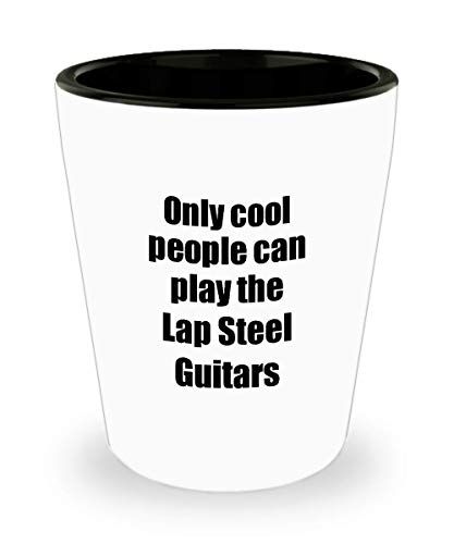 Lap Steel Guitars Player Shot Glass Musician Funny Gift Idea For Liquor Lover Alcohol 1.5oz Shotglass