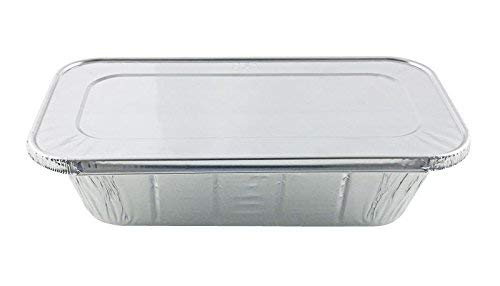 Handi-Foil of America Hfa 1/3 Third-Size Deep Aluminum Foil Steam / 5 lb Loaf Pan w/Foil Lids (Pack of 50 Sets) by Handi-Foil (Image #6)
