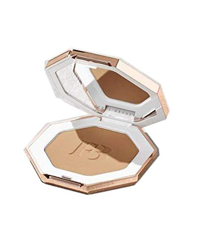 Sun Face Palette - Fenty Beauty by Rihanna Sun Stalk'r Bronzer 0.22 Ounce! Pressed Powder Makeup Matte Bronzer! Blendable, Buildable & Transfer Resistant! Choose From Bronzer Or Bronzer with Brush! (Shady Biz)