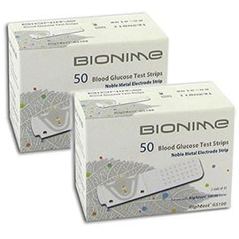 Bionime GS100 Test Strips - 100 ct.