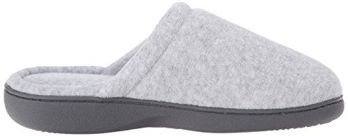 Isotoner Women's Classic Terry Clog Slippers Slip on, Heather Grey Small / 6.5-7 US