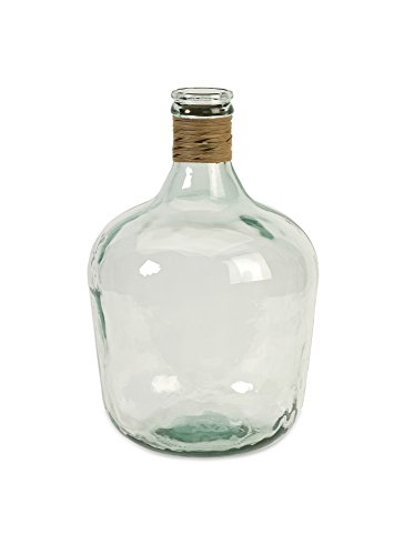 IMAX 84508 Boccioni Glass Jug in Small – Storage Container for Fermenting, Serving/Storing – Sustainable, Handcrafted Display Jars. Decorative Accessories (Glass Recycled Jar)