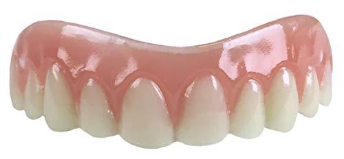 Instant Smile Comfort Fit Flex - Natural Shade - Upper Veneer Cosmetic Teeth (Best Inexpensive Teeth Whitener)