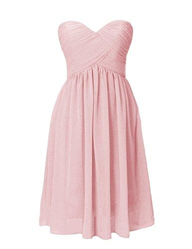 Gowns Short Women's Blush Chiffon Dresses Dress Cdress Bridesmaid Evening Prom Formal Sweetheart wqHTvH5