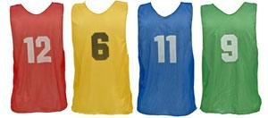 Champion Sports Youth Numbered Practice Vests Color: Gold (PSYNYL) (Pinnie Nylon Mesh Adult)