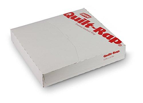 "Quik-Rap, LQ1212PL, White, Insulated Sandwich Paper, 12"" Length x 12"" Width by GP PRO (Georgia-Pacific) (Case of 5 Packs, 500 Per Pack)"